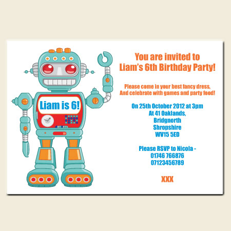 Why Hire Someone to Make Robot Birthday Invitations Dotty about – Robot Party Invitations