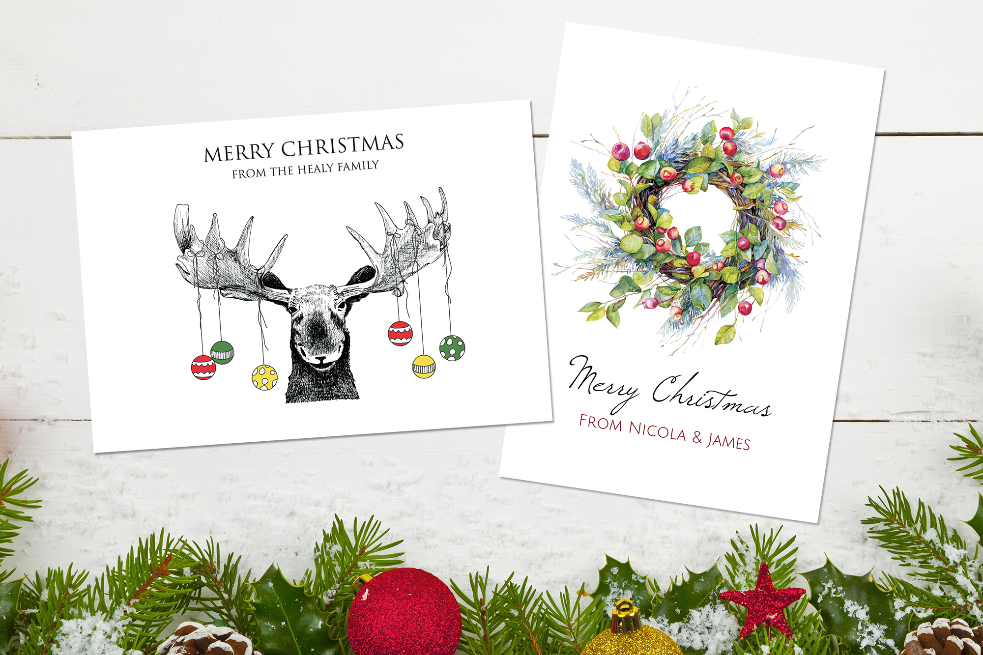Staff picks for christmas cards dotty about paper latest news staff picks 1 moose and wreath m4hsunfo