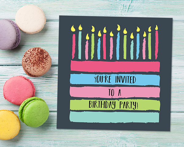 Organising a Surprise Birthday Party - Organising a Surprise Birthday Party - Chalkboard Layer Cake