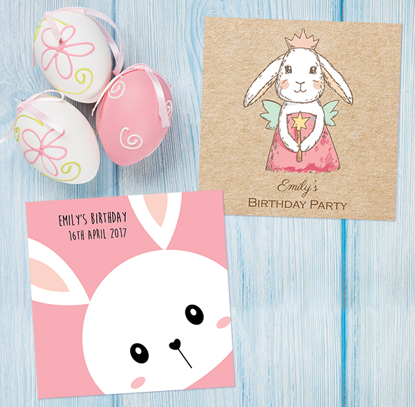 The Card Gallery - Easter Bunny Birthday Invites
