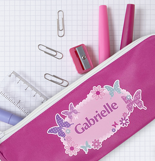 The Card Gallery - Back to School - Butterflies Pencil Case