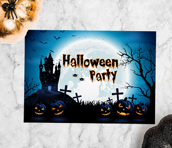 Dotty about Paper - Haunted House Halloween Invitation