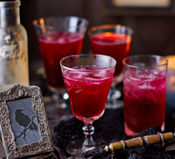 Halloween Themes -- Blood Red Cocktails
