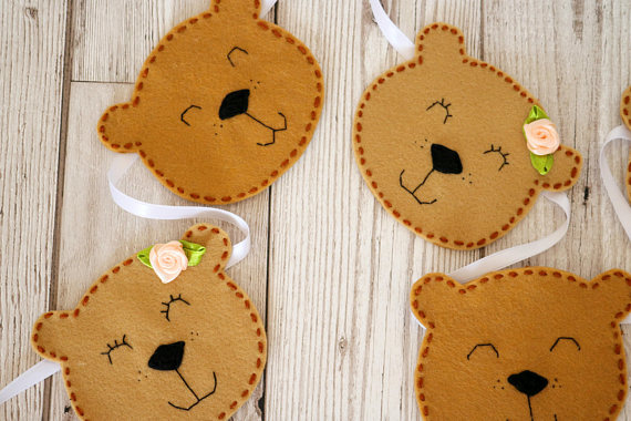 Ideas for a Children's Teddy Bear Picnic - Teddy Bear's Picnic Bunting - CosyFeltCreations - Etsy
