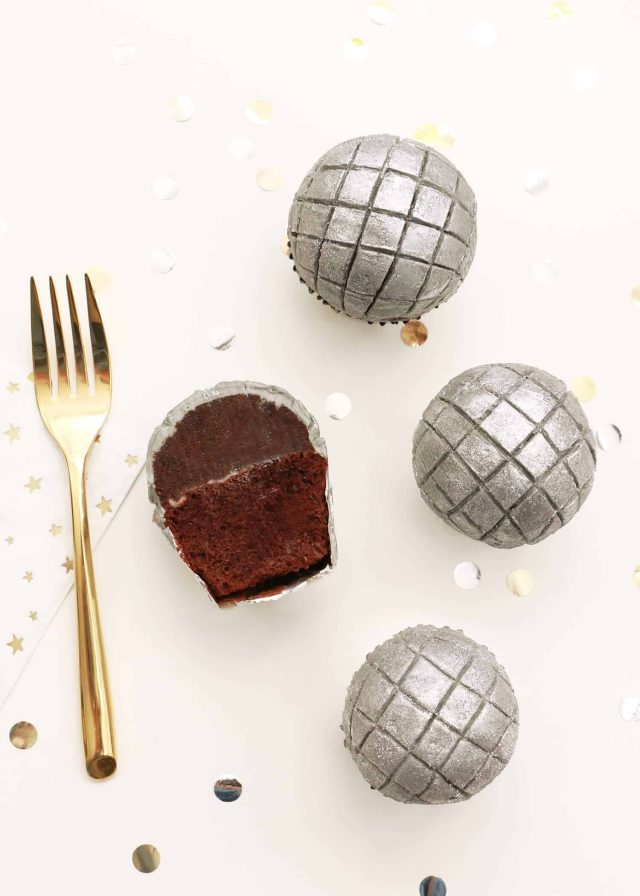Music Party Themes - DISCO BALL CUPCAKES by A Beautiful Mess