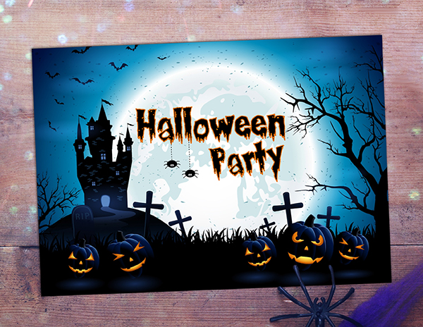 Ten Top Tips for Trick or Treating! - Haunted House Halloween Invitation