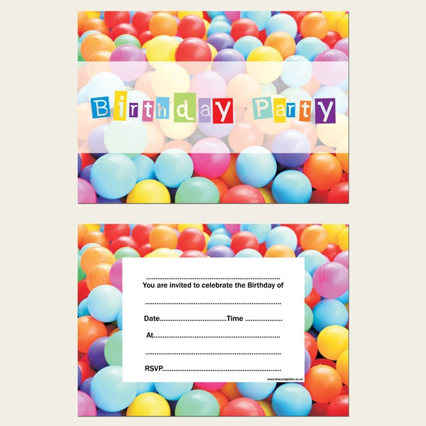 Ready to Write Kids Birthday Invitations - Soft Play Party - Pack of 10