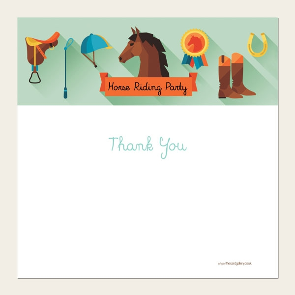 Ready to Write Kids Thank You Cards - Horse Riding Party - Pack of 10