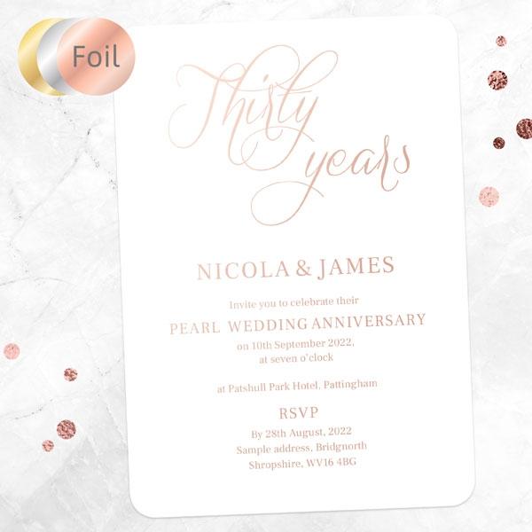 30th-Foil-Wedding-Anniversary-Invitations-Elegant-Script