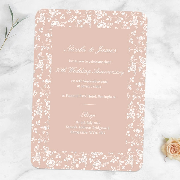 30th-Wedding-Anniversary-Invitations-Delicate-Rose-Pattern