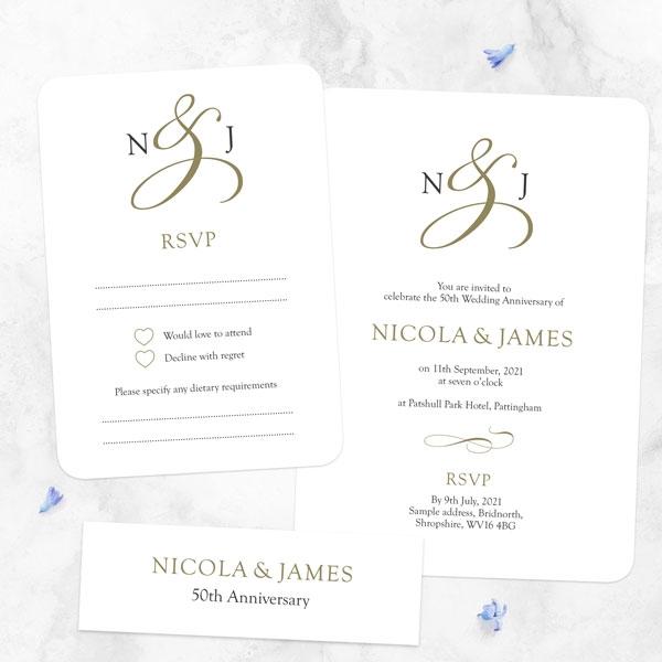 50th-Wedding-Anniversary-Invitations-Classic-Monogram