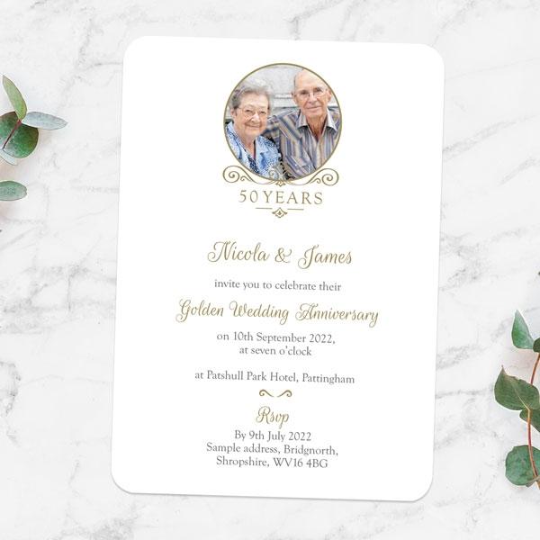 50th-Wedding-Anniversary-Invitations-Ornate-Scroll-Photo