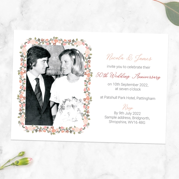 50th-Wedding-Anniversary-Invitations-Peach-Rose-Border