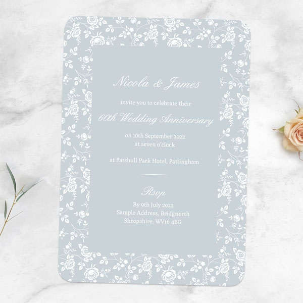 60th-Wedding-Anniversary-Invitations-Delicate-Rose-Pattern