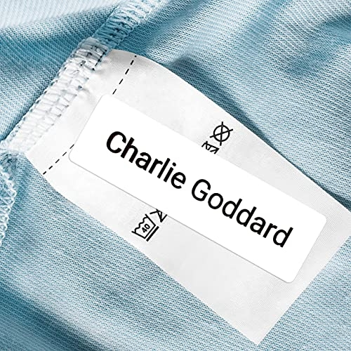 No Iron Personalised Stick On Care Home Clothing/Equipment Name Labels - Pack of 50