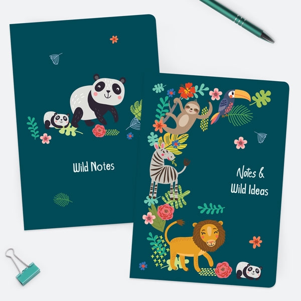Cute-Safari-Animals-A5-Exercise-Books-Pack-of-2