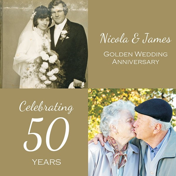 50th Wedding Anniversary Invitations - Use Your Own Photo