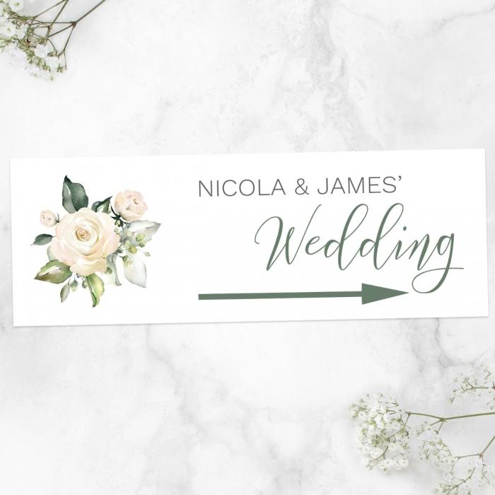 white-flower-garland-arrow-wedding-signs