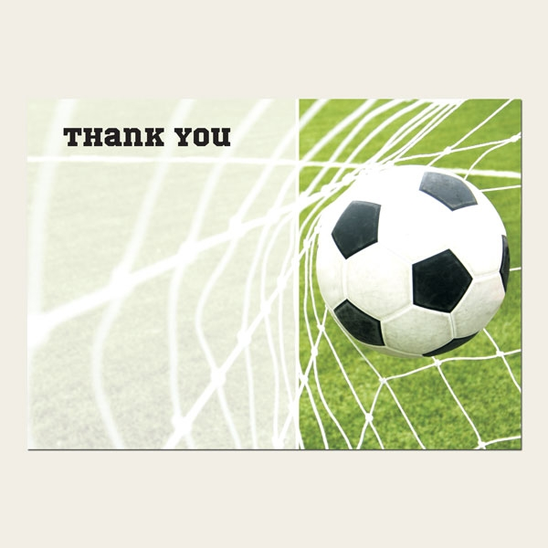 Ready to Write Kids Thank You Cards - Back of the Net - Pack of 10