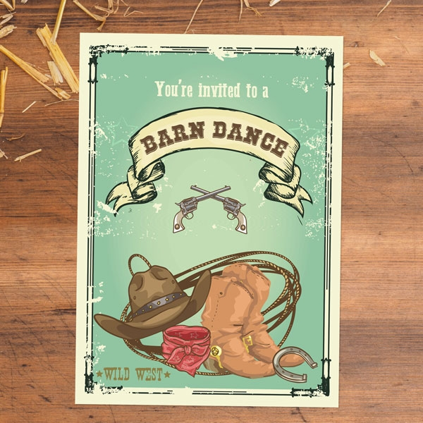 Party Invitations - Barn Dance - Pack of 10