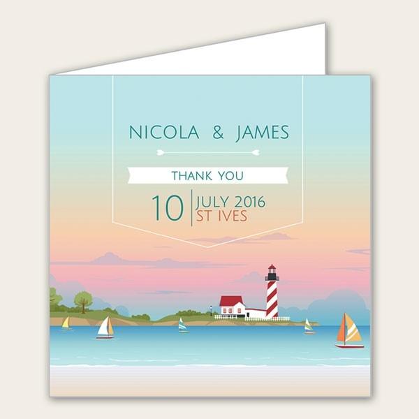 Coastal Scene - Wedding Thank You Cards