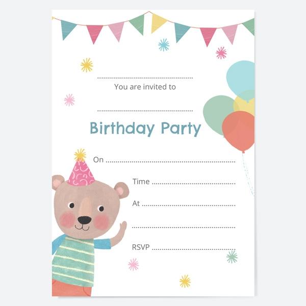 kids-birthday-invitations-dotty-party-bear