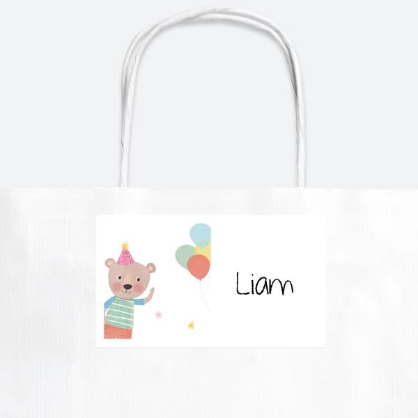 dotty-party-bear-party-bag-sticker