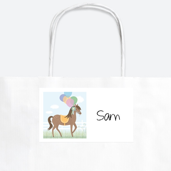 Horse Riding Stables Party Bag & Sticker