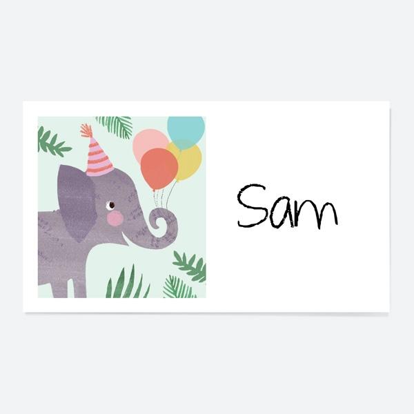 Jungle Animals Party Sticker