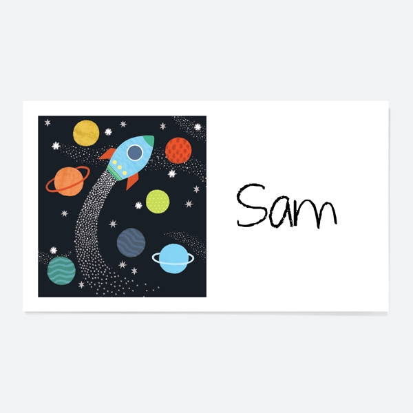 Outer Space Party Sticker