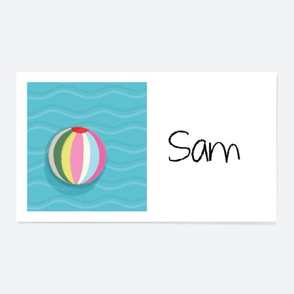 Pool Party Waves Party Sticker