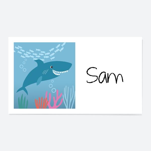 Shark Party Sticker