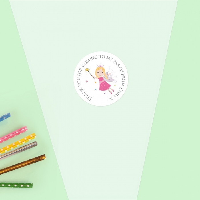 Birthday Fairy - Sweet Cone Bag & Sticker - Pack of 35