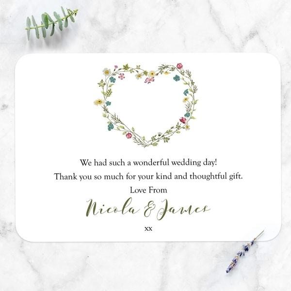 Botanical Heart - Wedding Thank You Cards