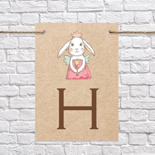 Bunny Fairy - Kids Birthday Bunting