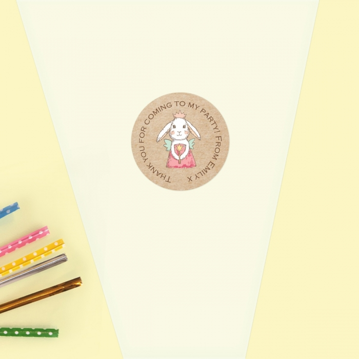 Bunny Fairy - Sweet Cone Bag & Sticker - Pack of 35