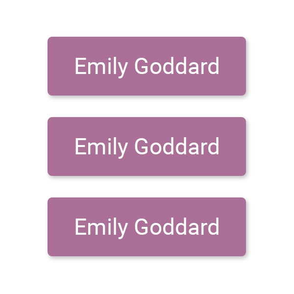 Care Home - Small Personalised Stick On Waterproof (Equipment) Name Labels - Mauve - Pack of 60