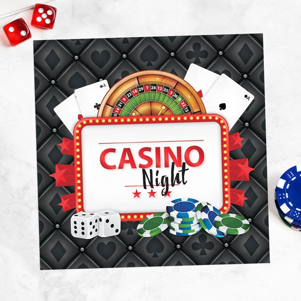 Casino - Party Invitations - Pack of 10