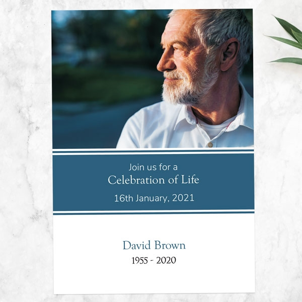 Funeral-Celebration-of-Life-Invitations-Male-Modern-Photo-Collage