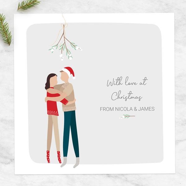 personalised-christmas-cards-treasured-memories-mistletoe-kisses