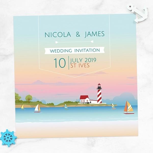 Coastal Scene - Wedding Invitations