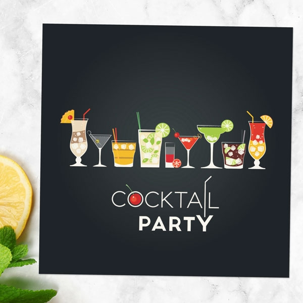 Cocktail Party Invitation - Pack of 10