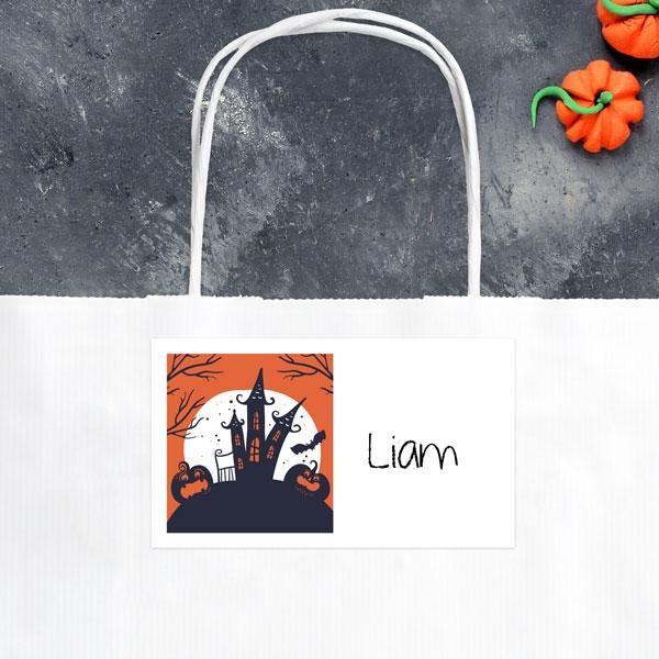 Creepy Pumpkin Castle - Halloween Party Bag & Sticker - Pack of 10