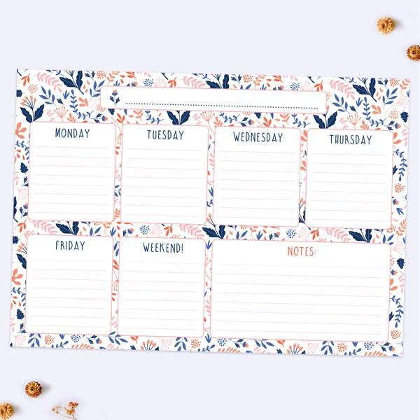 Ditsy-Floral-Kids-Homework-Planner