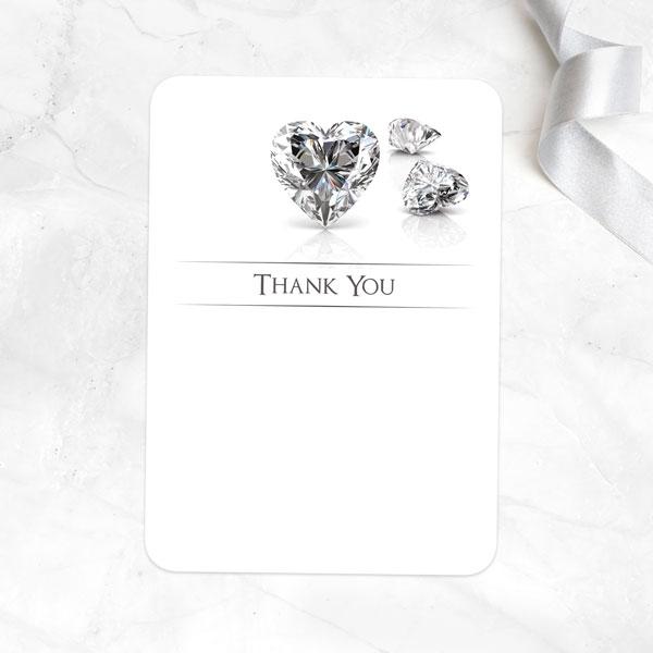 Anniversary Thank You Cards - Diamond Heart