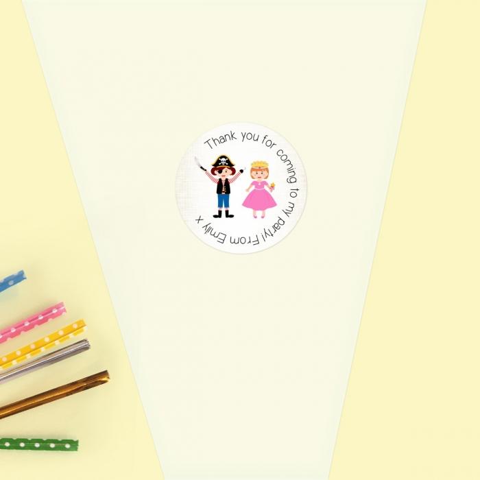 Fancy Dress - Sweet Cone Bag & Sticker - Pack of 35