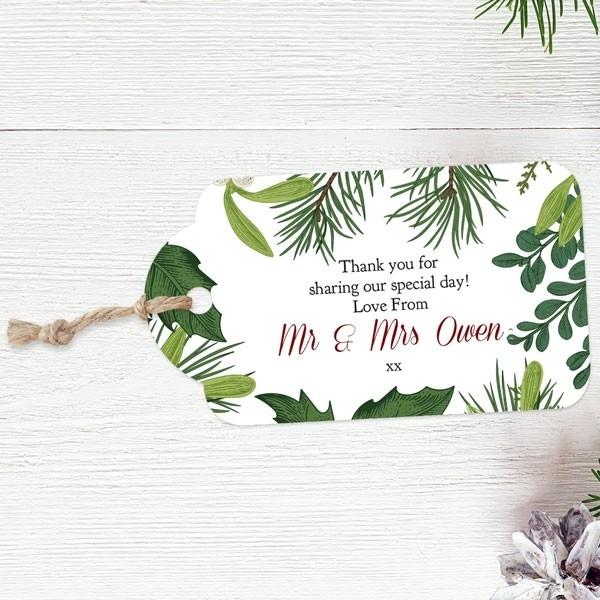 Festive Winter Foliage - Favour Tags
