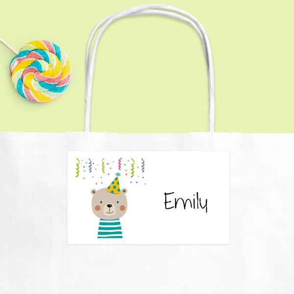 Fun Party Bear - Party Bag & Sticker - Pack of 10