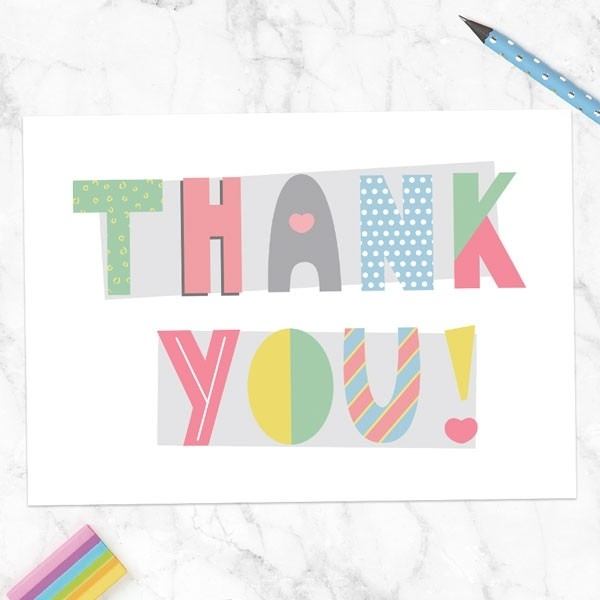 Ready to Write Thank You Cards - Funky Typography - Pack of 10