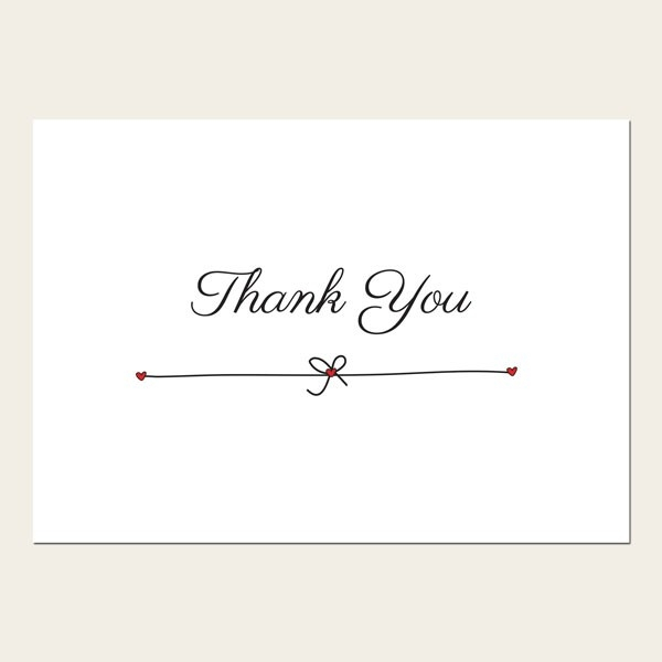 Thank You Cards - He Asked, She Said Yes